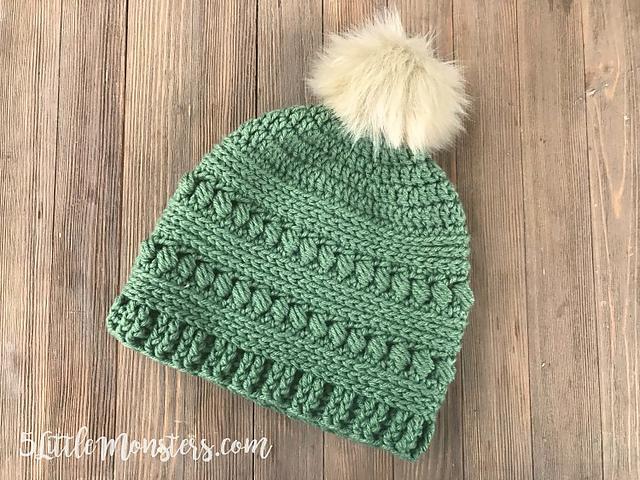 Bead Stitch Hat Free Crochet Pattern | DailyCrochetIdeas