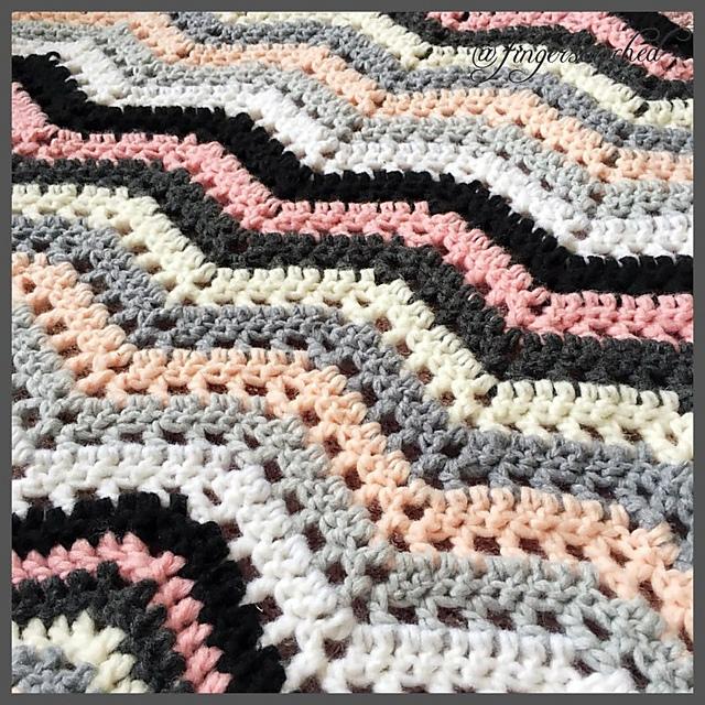 Cosy Ripple Blanket Free Crochet Pattern Dailycrochetideas