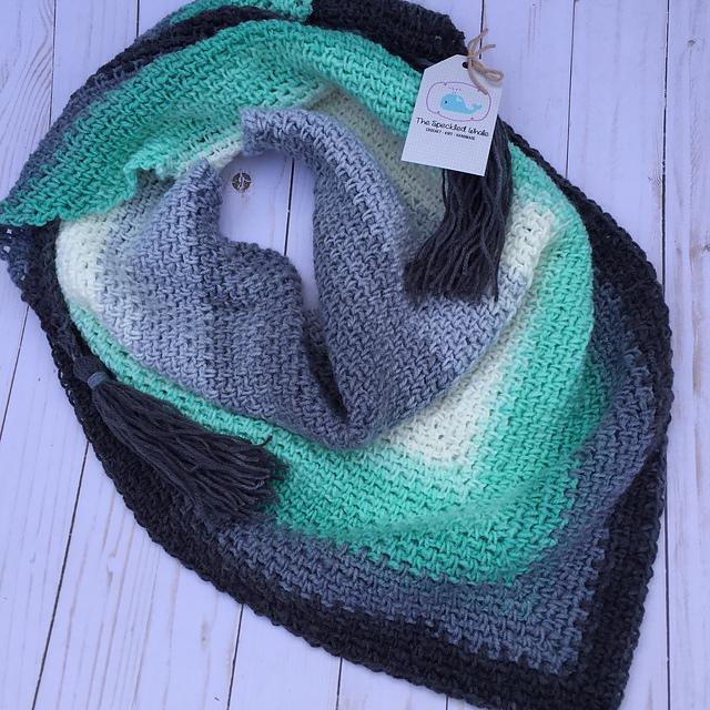 Madeline Triangle Scarf Free Crochet Pattern Dailycrochetideas