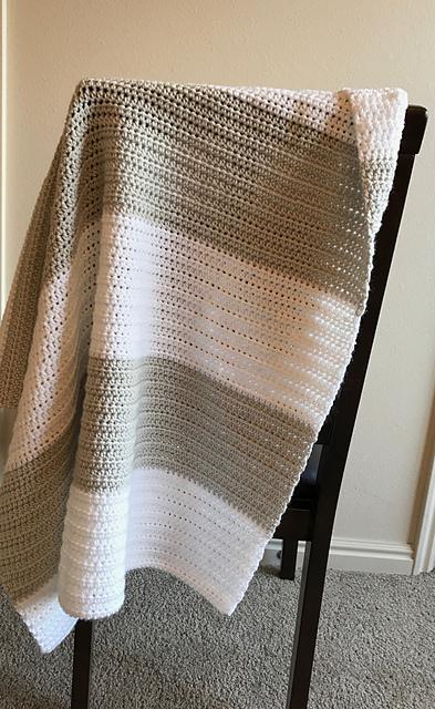 Block Stripe Baby Blanket Free Crochet Pattern Dailycrochetideas