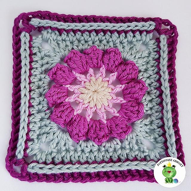 Blossom Granny Square Free Crochet Pattern Dailycrochetideas
