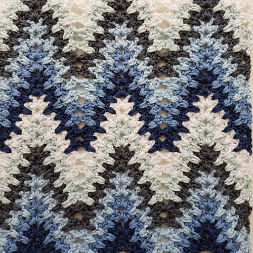Heartbeat Ripple Blanket Free Crochet Pattern