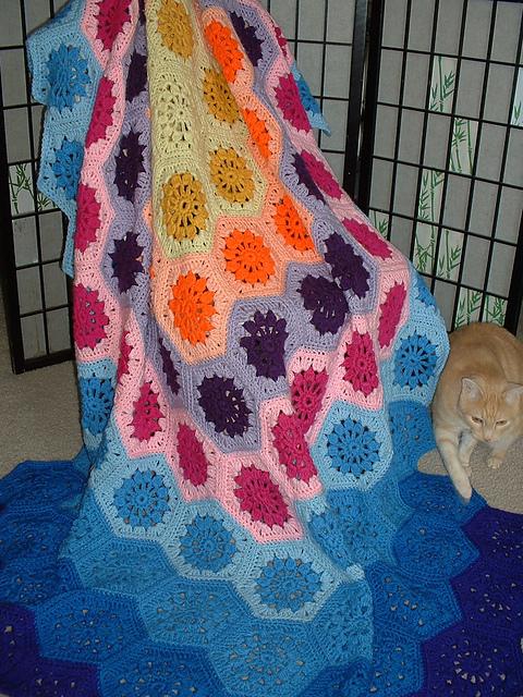 Galaxy Afghan Blanket Free Crochet Pattern Dailycrochetideas
