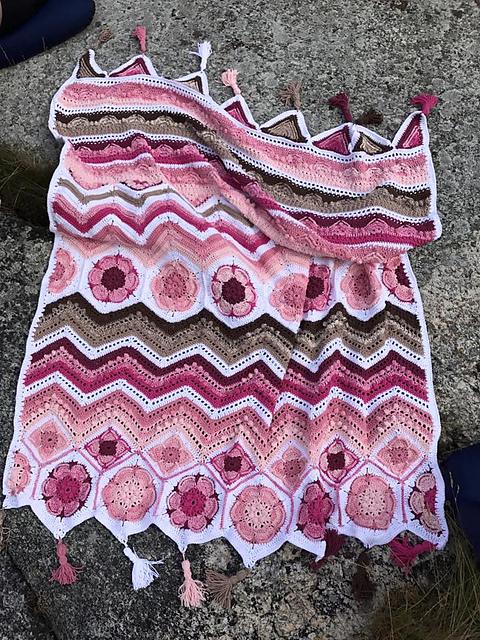 My Spicy Ripple Blanket Free Crochet Pattern Dailycrochetideas