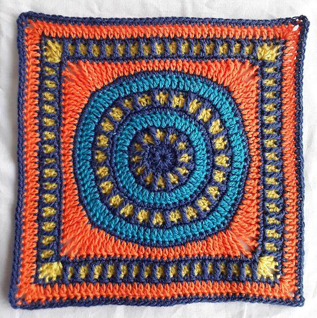 Geometria Rustica Squares Free Crochet Pattern | DailyCrochetIdeas