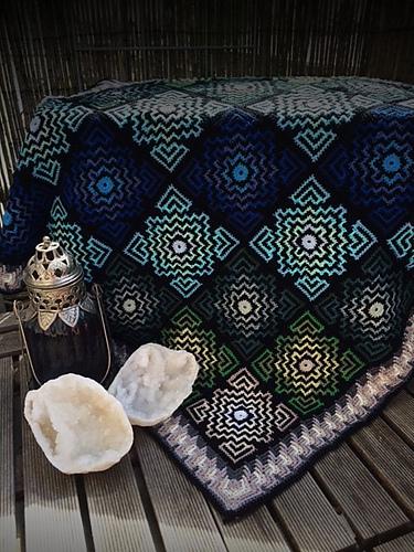 Terrazzo Blanket Free Crochet Pattern Dailycrochetideas