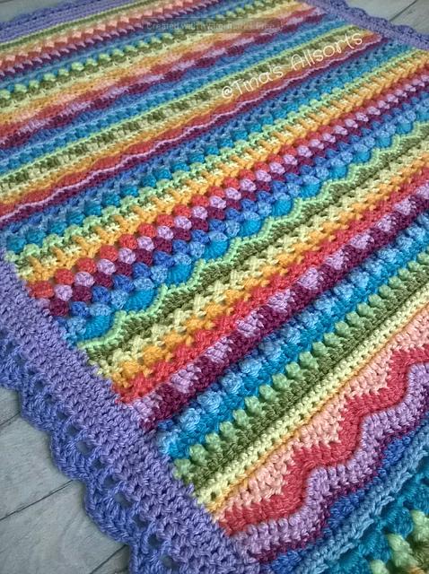 Tooty Stripey Blanket Free Crochet Pattern Dailycrochetideas