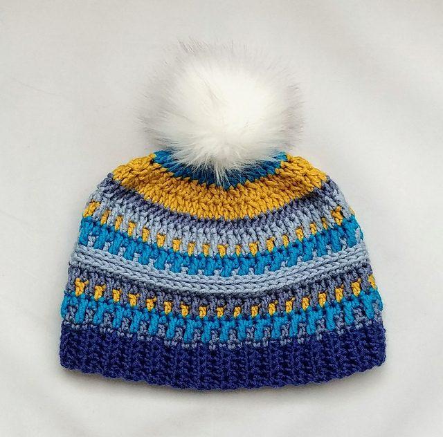 Arctic Gem Beanie Hat Free Crochet Pattern Dailycrochetideas
