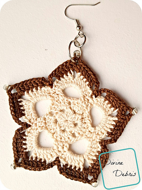 Mini Mandala Earrings Free Crochet Pattern Dailycrochetideas
