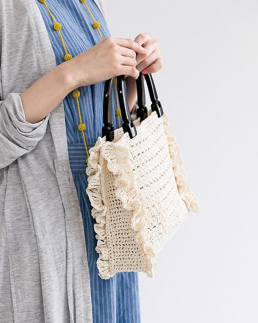 Side Frill Bag Free Crochet Pattern Dailycrochetideas