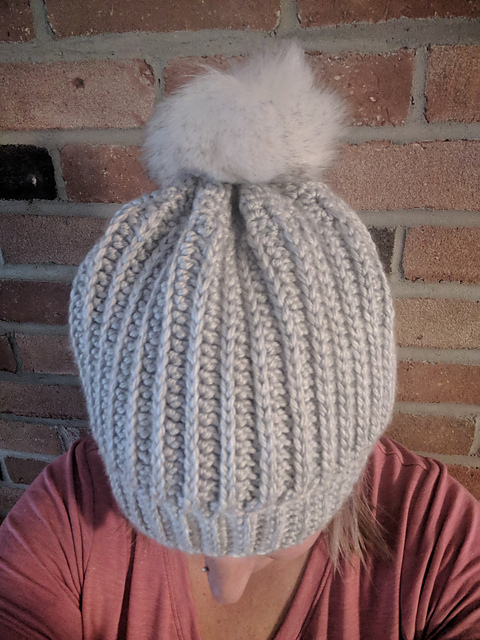 The hat is made in a beautiful shade of gray. Add a button and pompon for a  better effect. The hat fits into any outfit. It is soft and warm. c1505517b10
