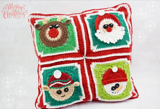 Christmas Pillow Free Crochet Pattern Dailycrochetideas