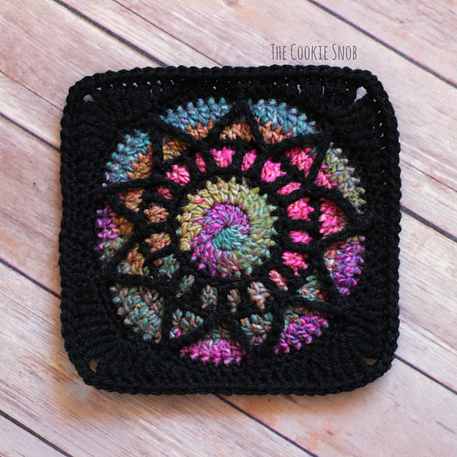 Stained Glass Square Free Crochet Pattern Dailycrochetideas