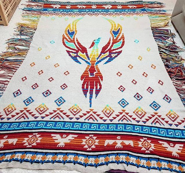 Phoenix Rising Blanket Free Crochet Pattern