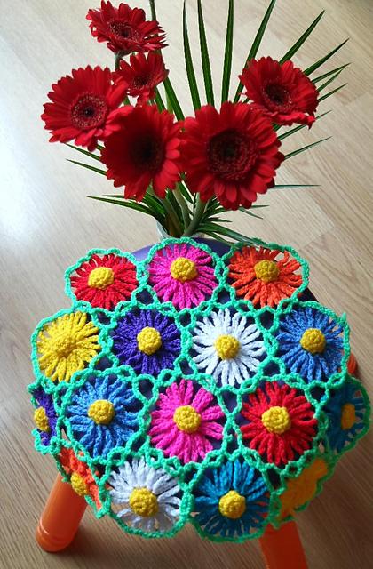 Daisy Blanket Free Crochet Pattern2