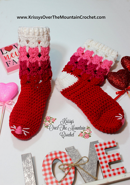 Crochet Socks, Cat Socks, Cat Slippers, House Socks, Animal Socks ... | 640x450