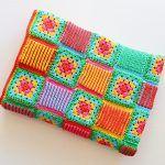 Granny Brioche Blanket Free Crochet Pattern