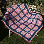 Sea Urchin Granny Square Blanket Free Crochet Pattern