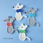 Mouse Applique Free Crochet Pattern2