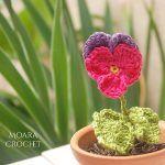 Pansy Flower Free Crochet Pattern2