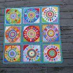 Spinning Top Blanket Free Crochet Pattern