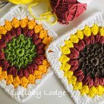 Sunflower Granny Square Free Crochet Pattern2