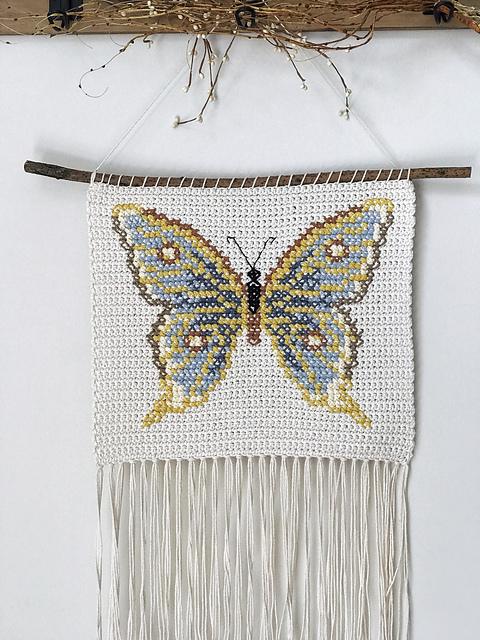Butterfly Banner Free Crochet Pattern Dailycrochetideas