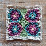 Blossom Honeycomb Square Free Crochet Pattern