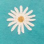 Daisy Applique Free Crochet Pattern