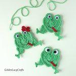 Frog Applique Free Crochet Pattern