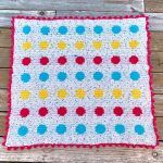 Polka Dot Blanket Free Crochet Pattern2