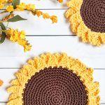 Rustic Sunflower Towel Topper Free Crochet Pattern2