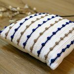 Bobble Stripe Farmhouse Pillow Free Crochet Pattern