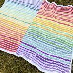 Rainbow Stripe Baby Blanket Free Crochet Pattern2