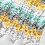 Bobble Chevron Baby Blanket Free Crochet Pattern