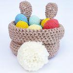 Bunny Easter Basket Free Crochet Pattern2