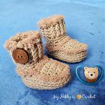 Lanis Baby Booties Free Crochet Pattern