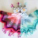Baby Owl Lovey Blanket Free Crochet Pattern