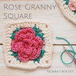 Rose Granny Square Free Crochet Pattern