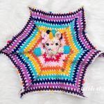 Hug Me Unicorn Lovey Baby Blanket Free Crochet Pattern