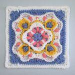 Cute Afghan Block Free Crochet Pattern2