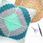 Quilt Block Pillow Free Crochet Pattern
