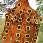 Sunflower Granny Square Cardigan Free Crochet Pattern2