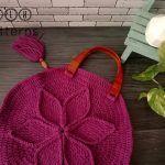 Handbag With Textured Flower Free Crochet Pattern2