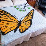Mini C2C Butterfly Blanket Free Crochet Pattern