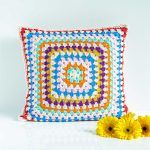 Striped Rounds Pillow Free Crochet Pattern