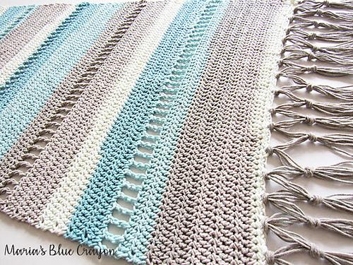 Coastal Indoor Rug Free Crochet Pattern