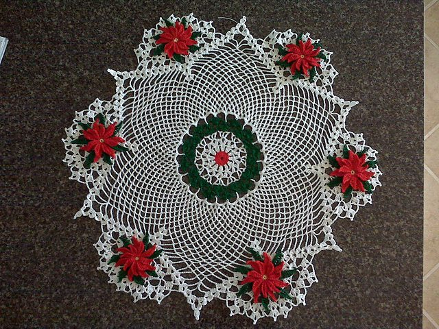 Rose Doily Free Crochet Pattern Dailycrochetideas