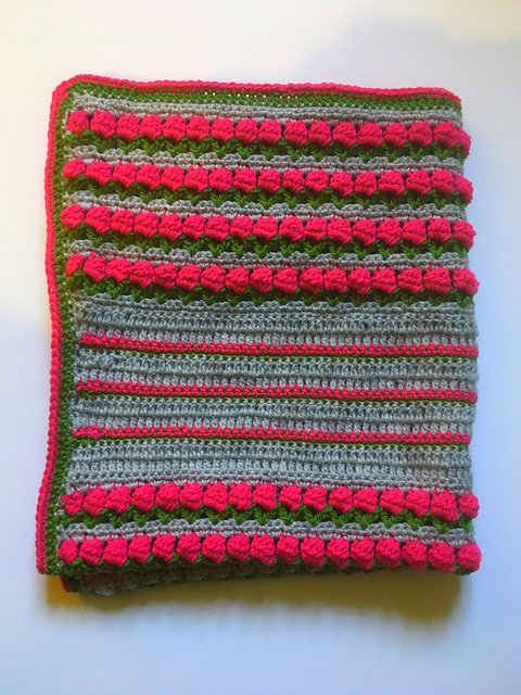 Tulip Stitch Blanket Free Crochet Pattern Dailycrochetideas