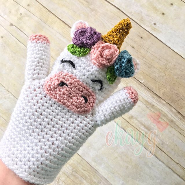 Unicorn Hand Puppet Free Crochet Pattern Dailycrochetideas